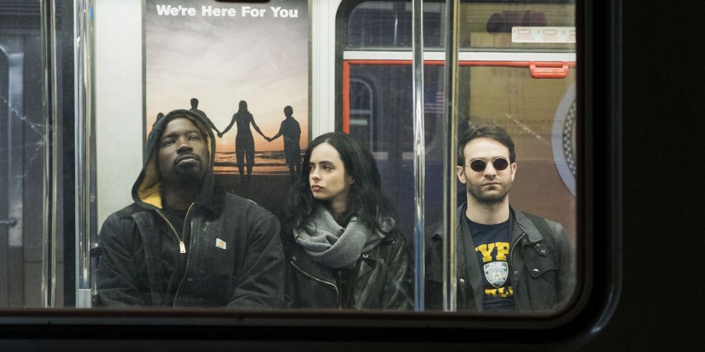 Luke Cage Jessica Jones And Matt Murdock Take A Ride