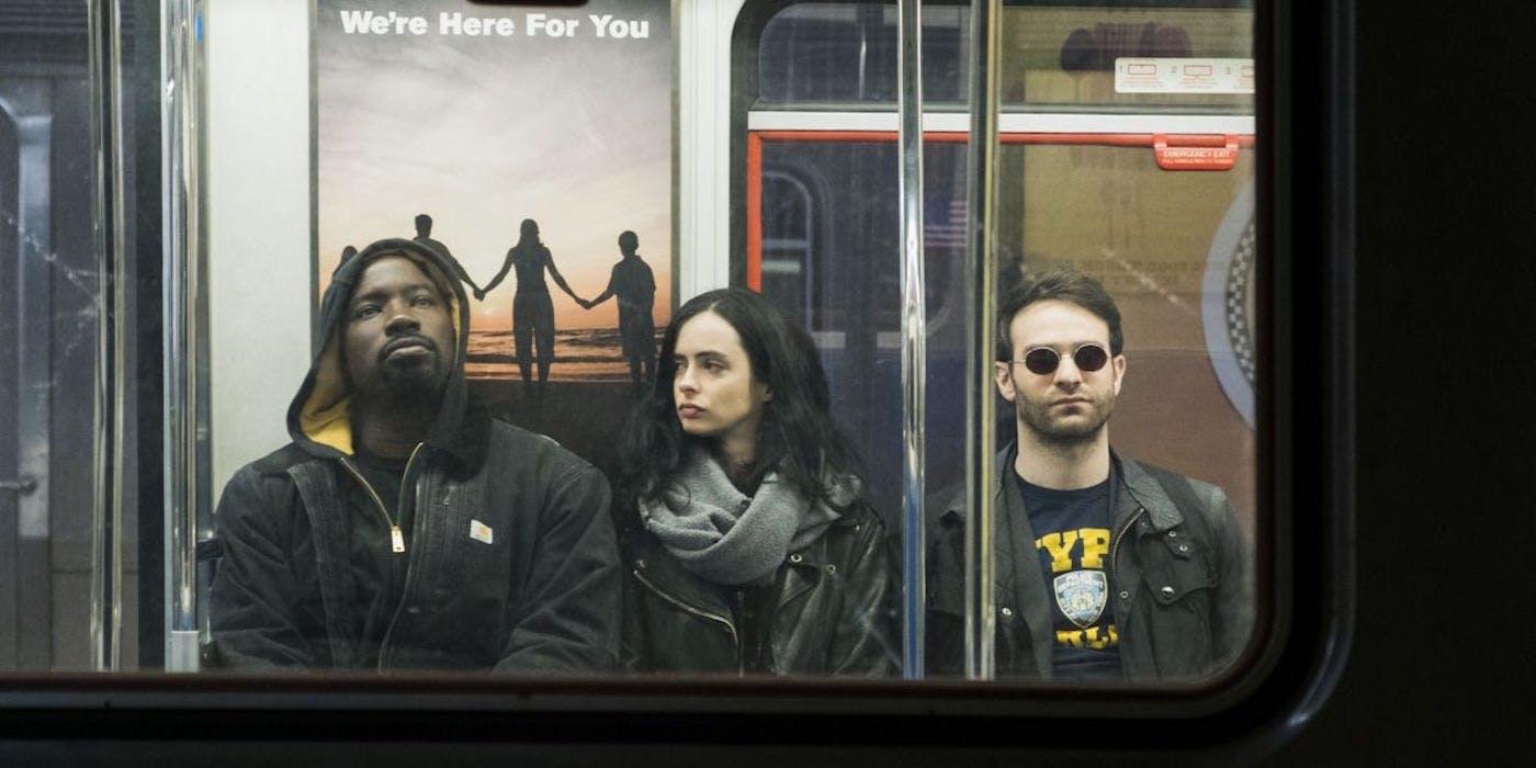 Luke Cage Jessica Jones And Matt Murdock Take A Ride