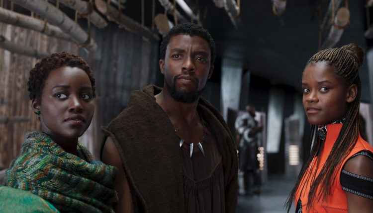 Nakia, T'Challa and Shuri in Black Panther
