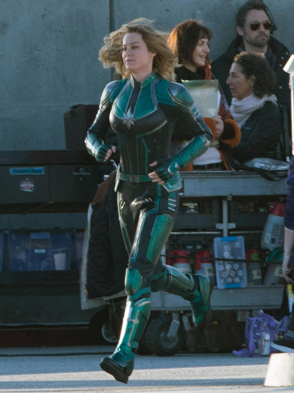 captain marvel resumes filming as new photos of brie