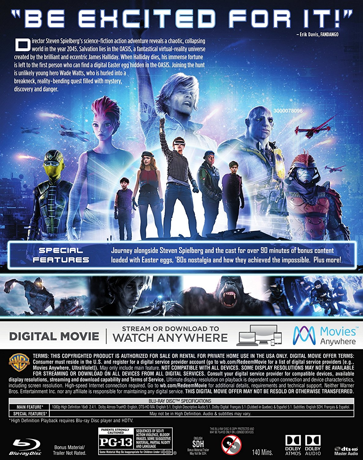 Ready Player One Digital Download and Blu Ray Release Dates