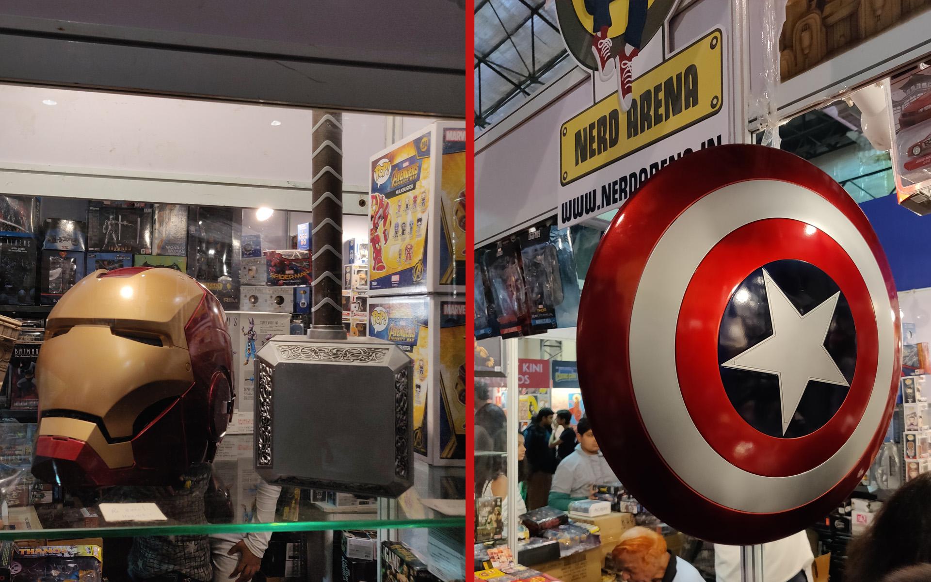Comic Con Mumbai 2018 - Avengers Props