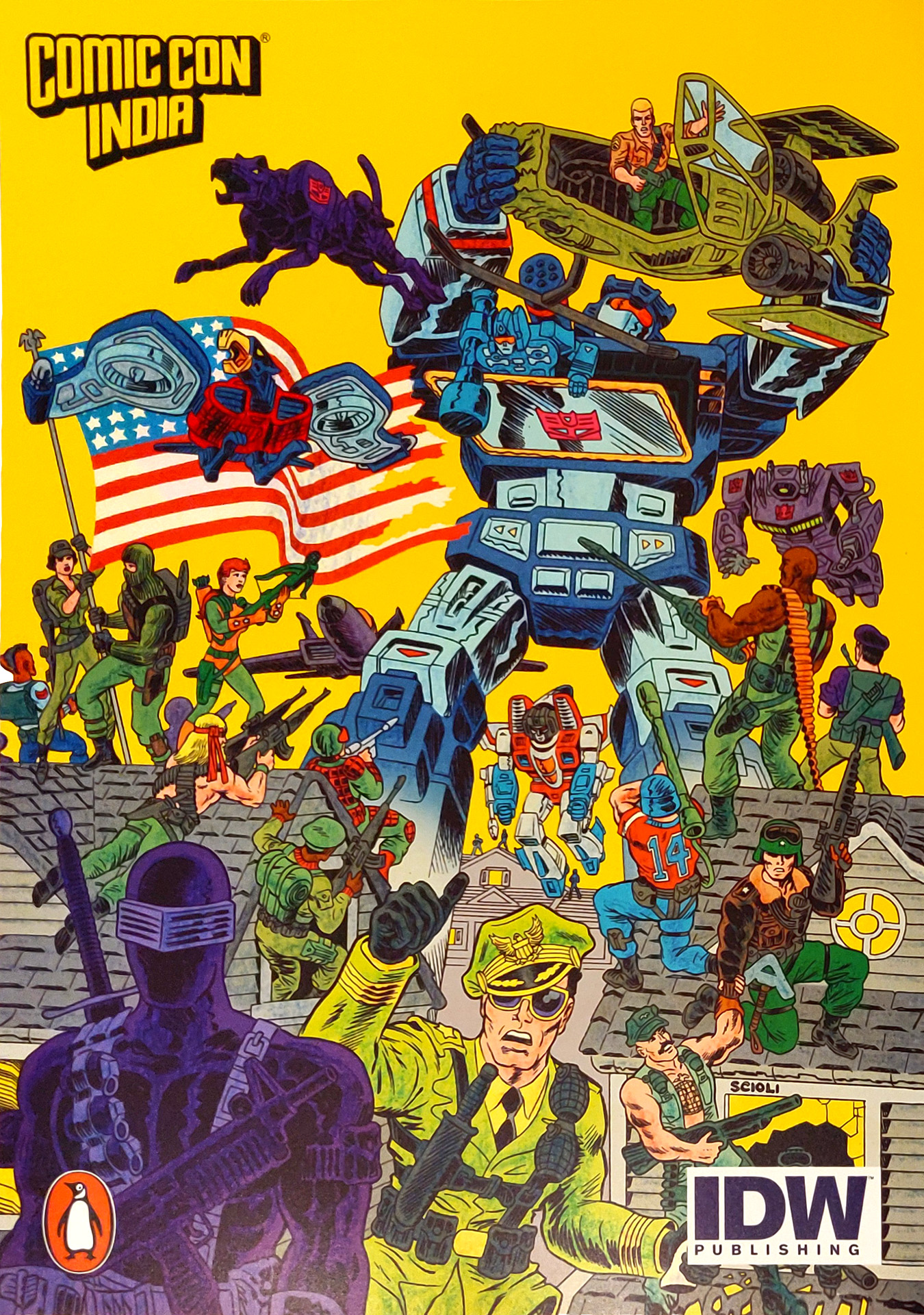 Comic Con Mumbai 2018 Goodies - Transformers vs GI Joe Issue #1 Cover Poster