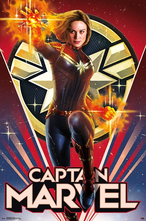 Captain Marvel Wall Poster 1 - Heroic