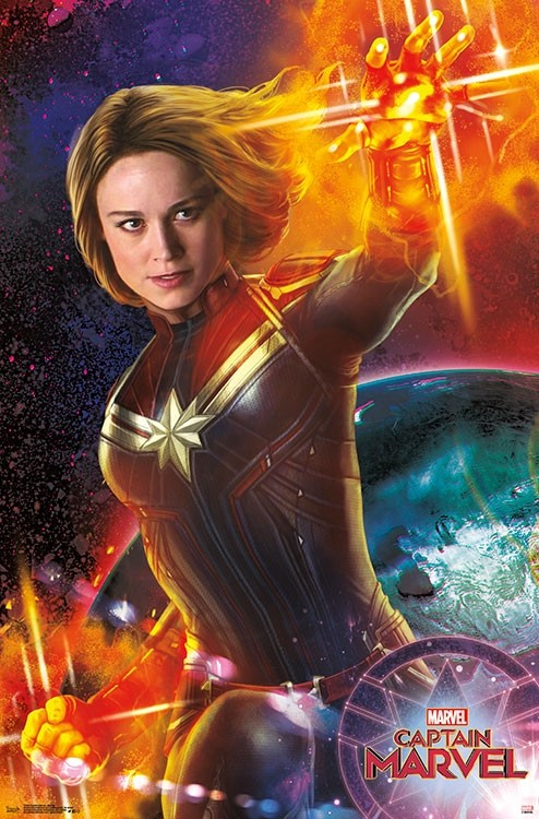 Captain Marvel Wall Poster 2 - Energy