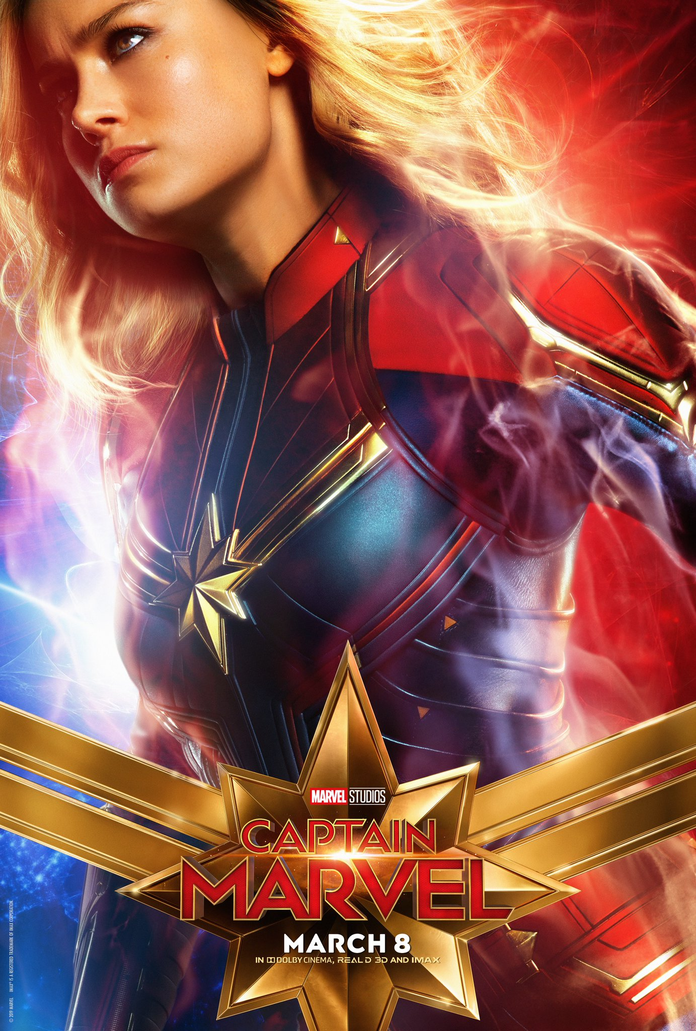 Captain Marvel Character Poster - Brie Larson Captain Marvel