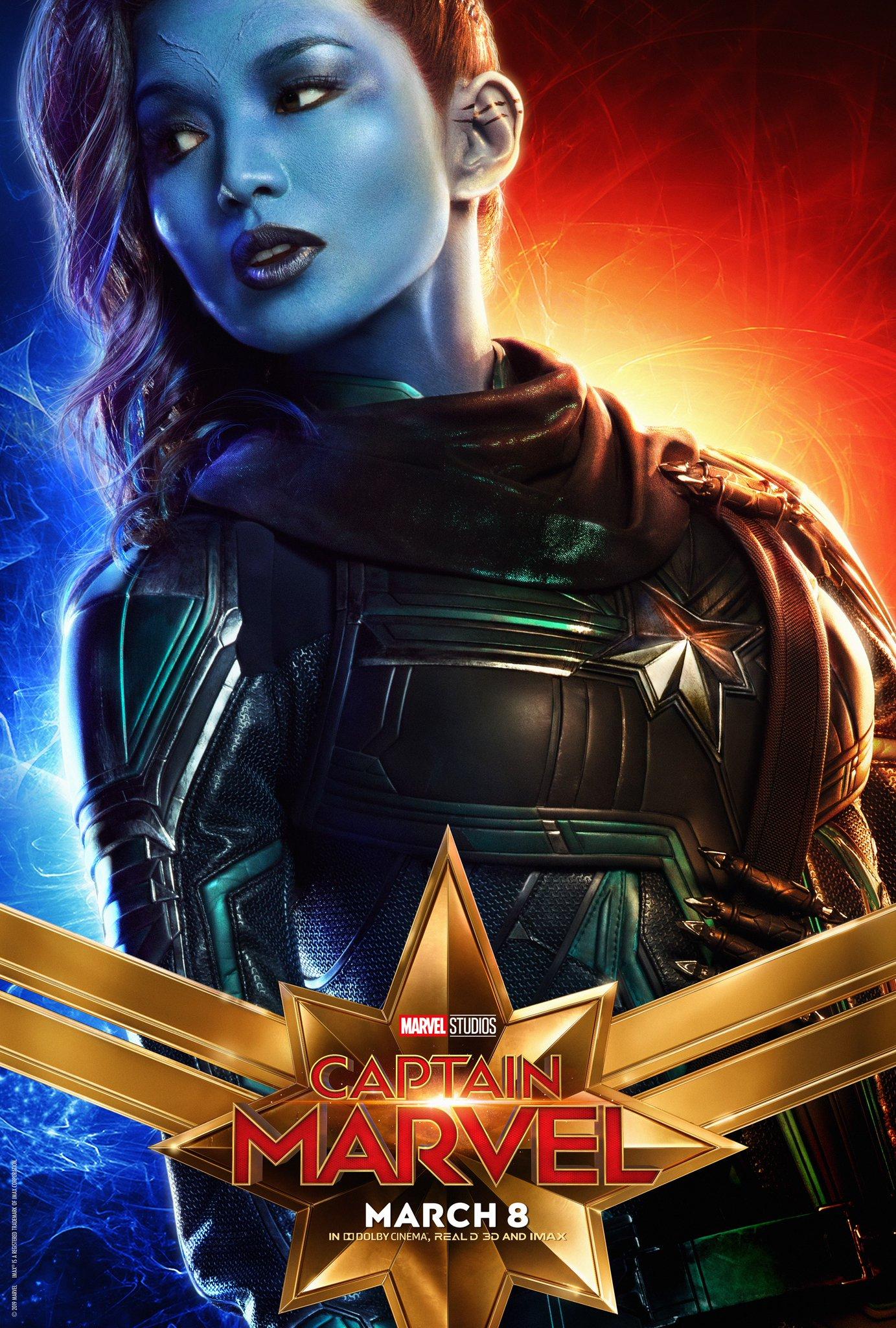 Captain Marvel Character Poster - Gemma Chan Minn-Erva
