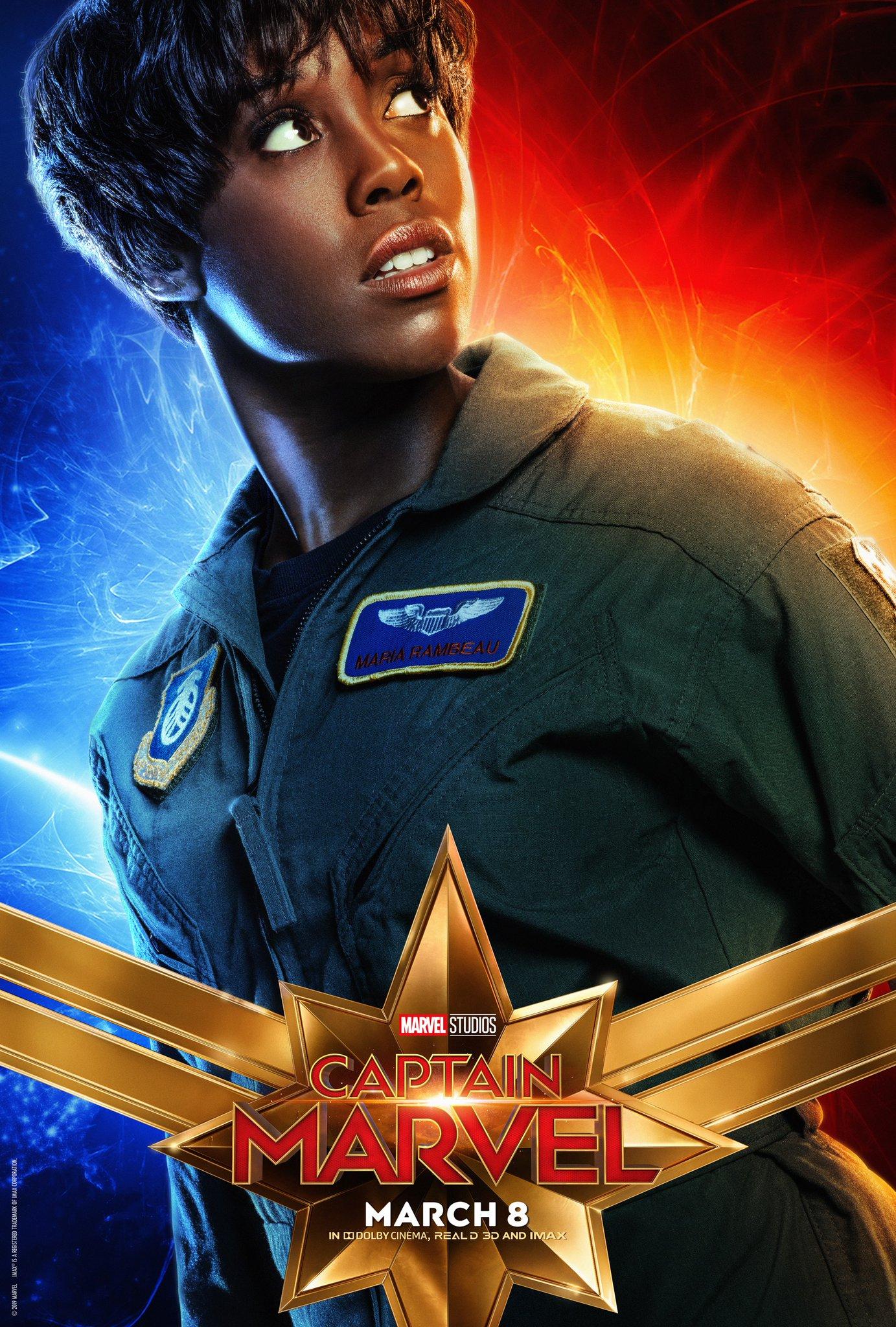 Captain Marvel Character Poster - Lashana Lynch Maria Rambeau