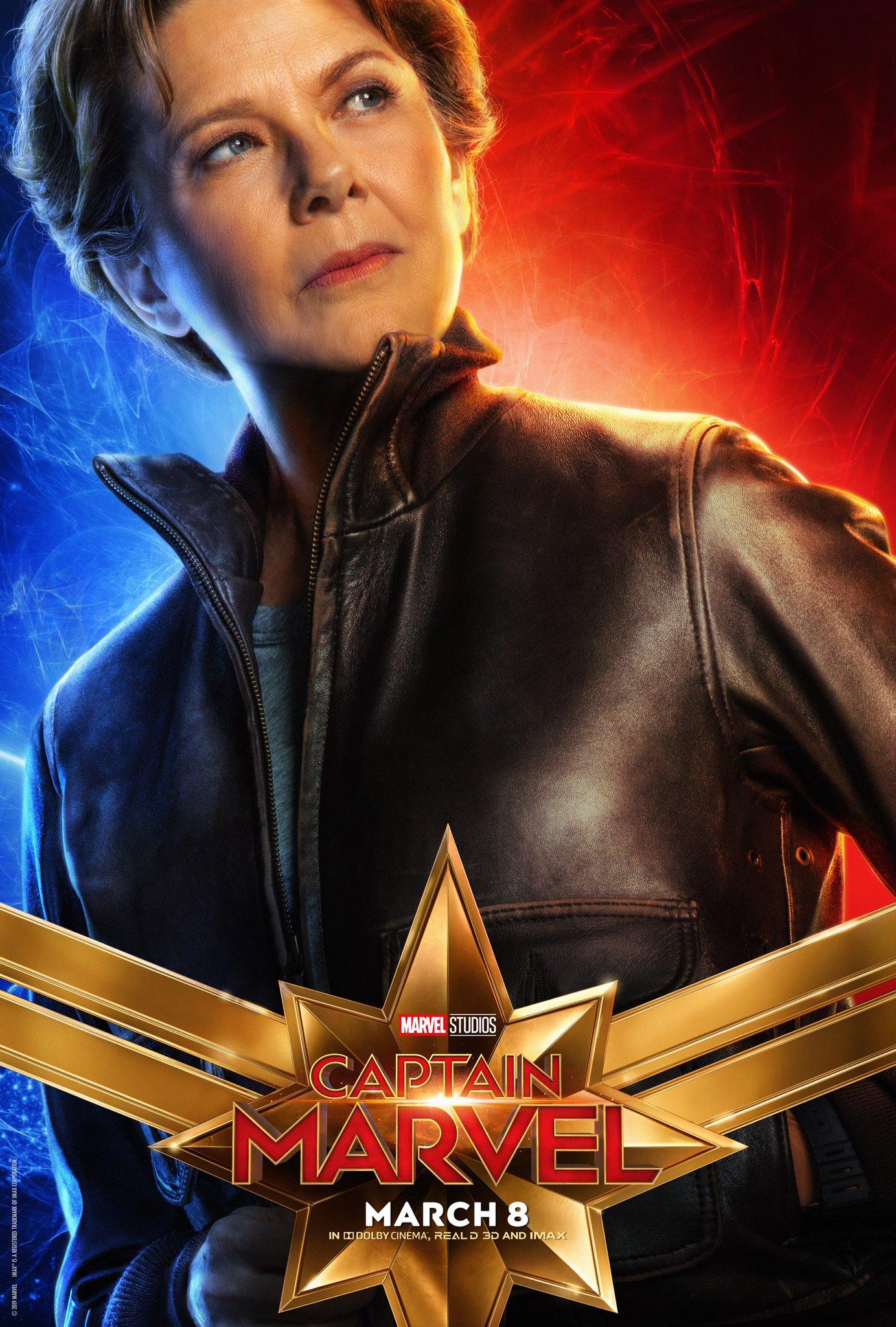 Captain Marvel Character Poster - Annette Benning Supreme Commander