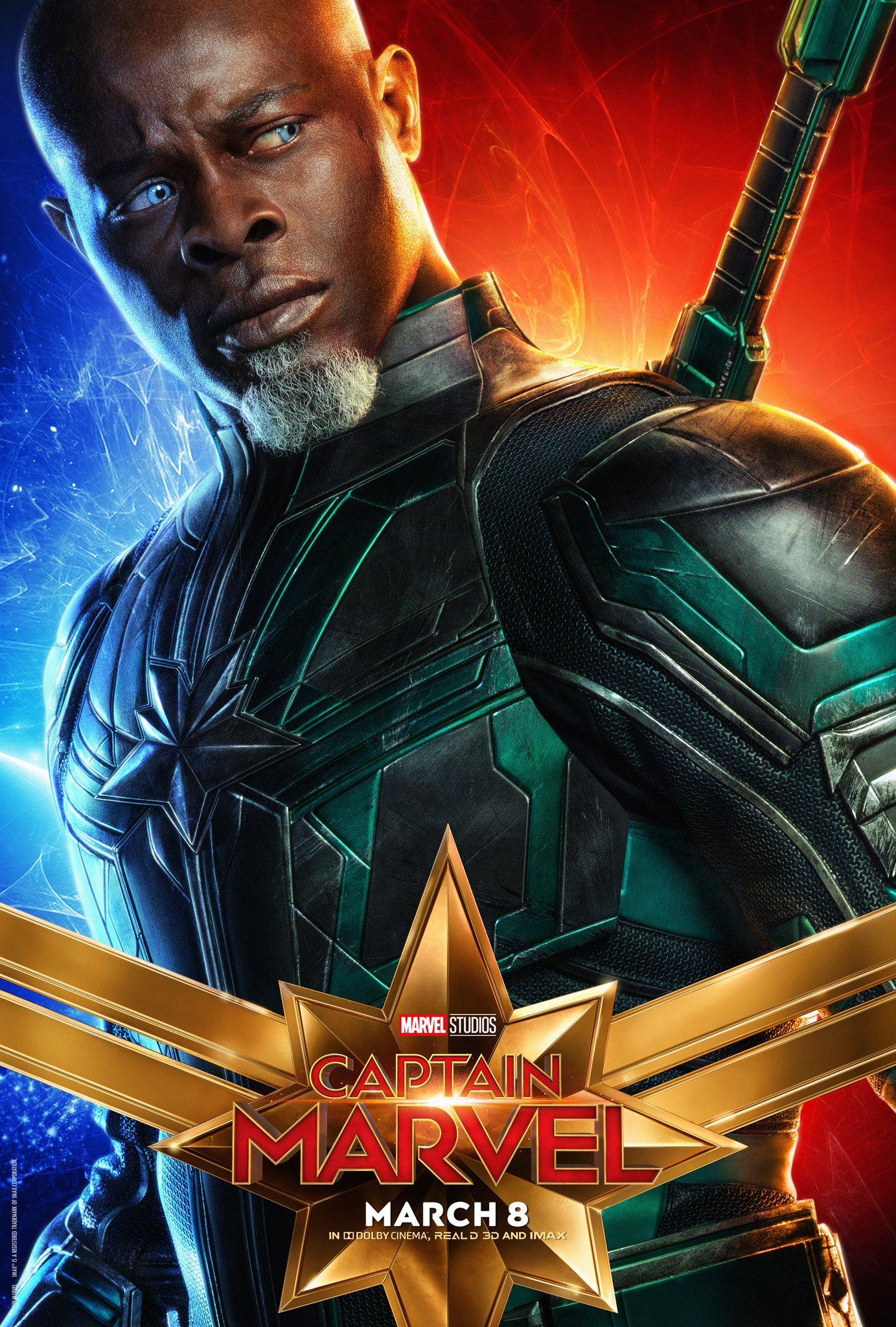 Captain Marvel Character Poster - Djimon Honsou Korath