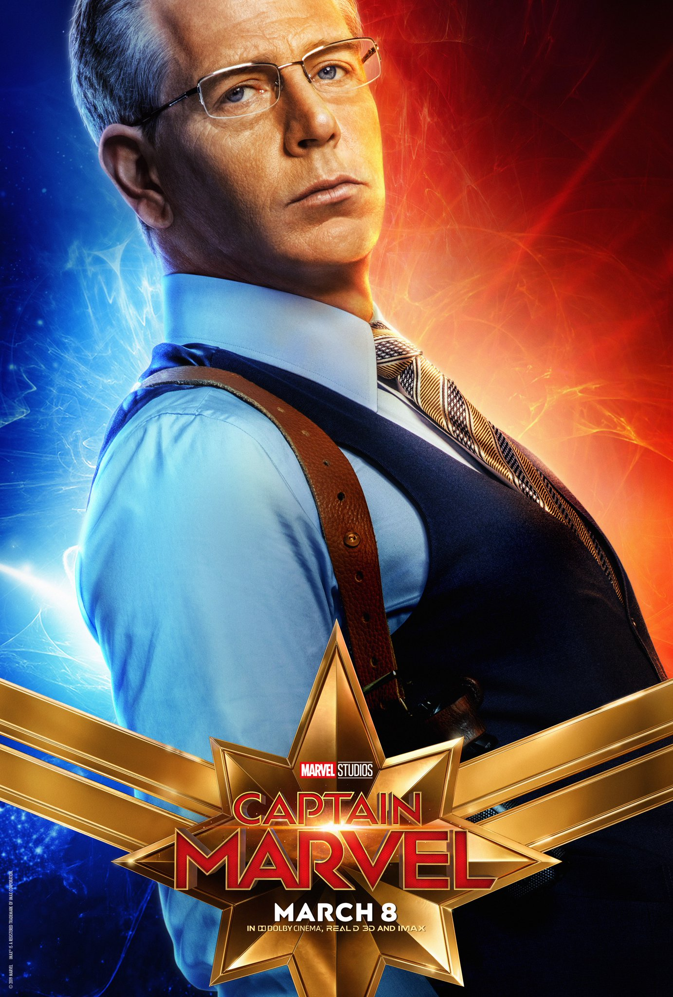 Captain Marvel Character Poster - Ben Mendelsohn Talos