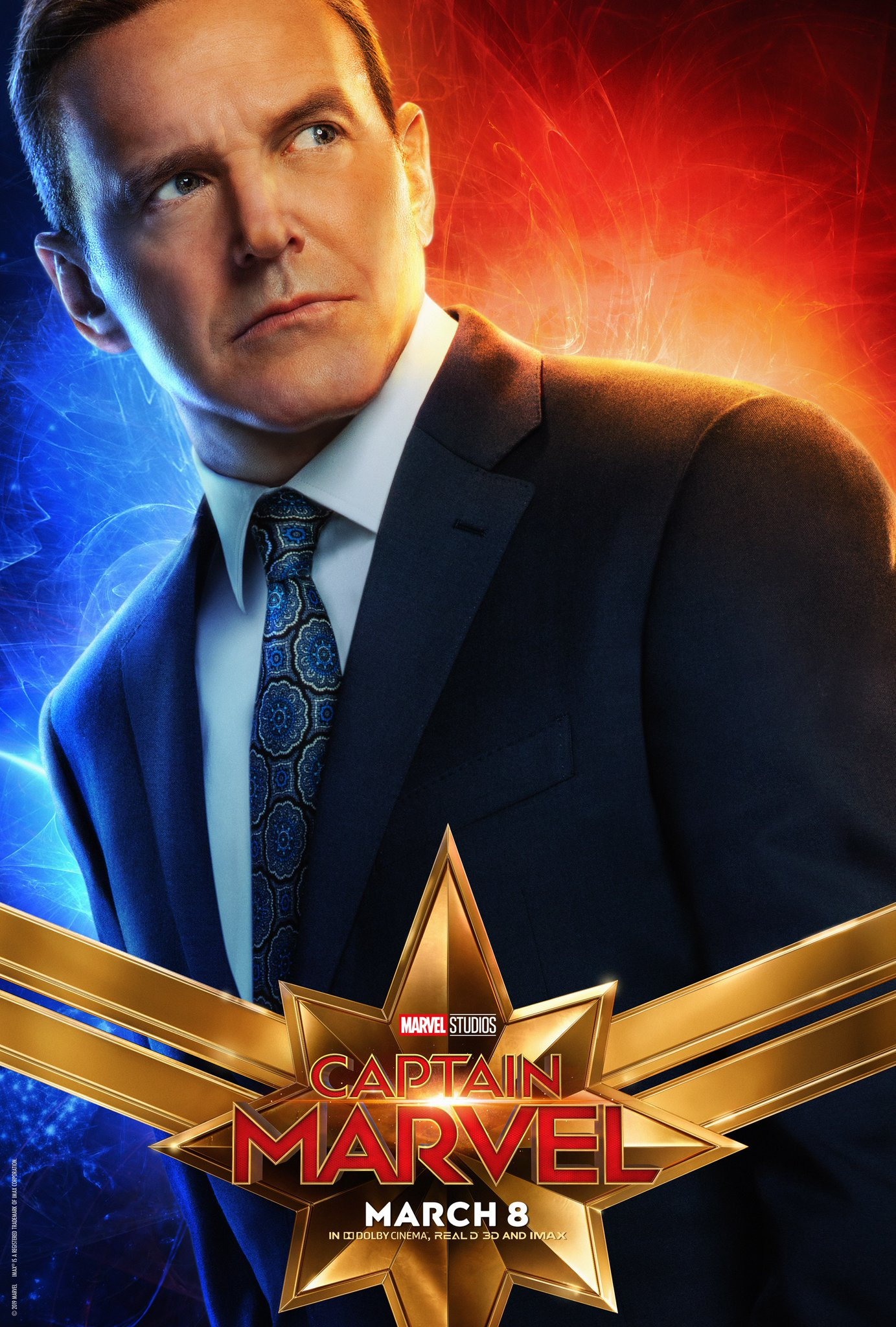 Captain Marvel Character Poster - Clark Gregg Phil Coulson