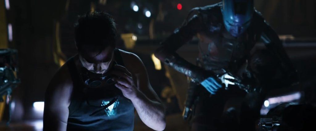 Avengers Endgame Super Bowl Spot - Tony Stark Nebula Mark I Mode