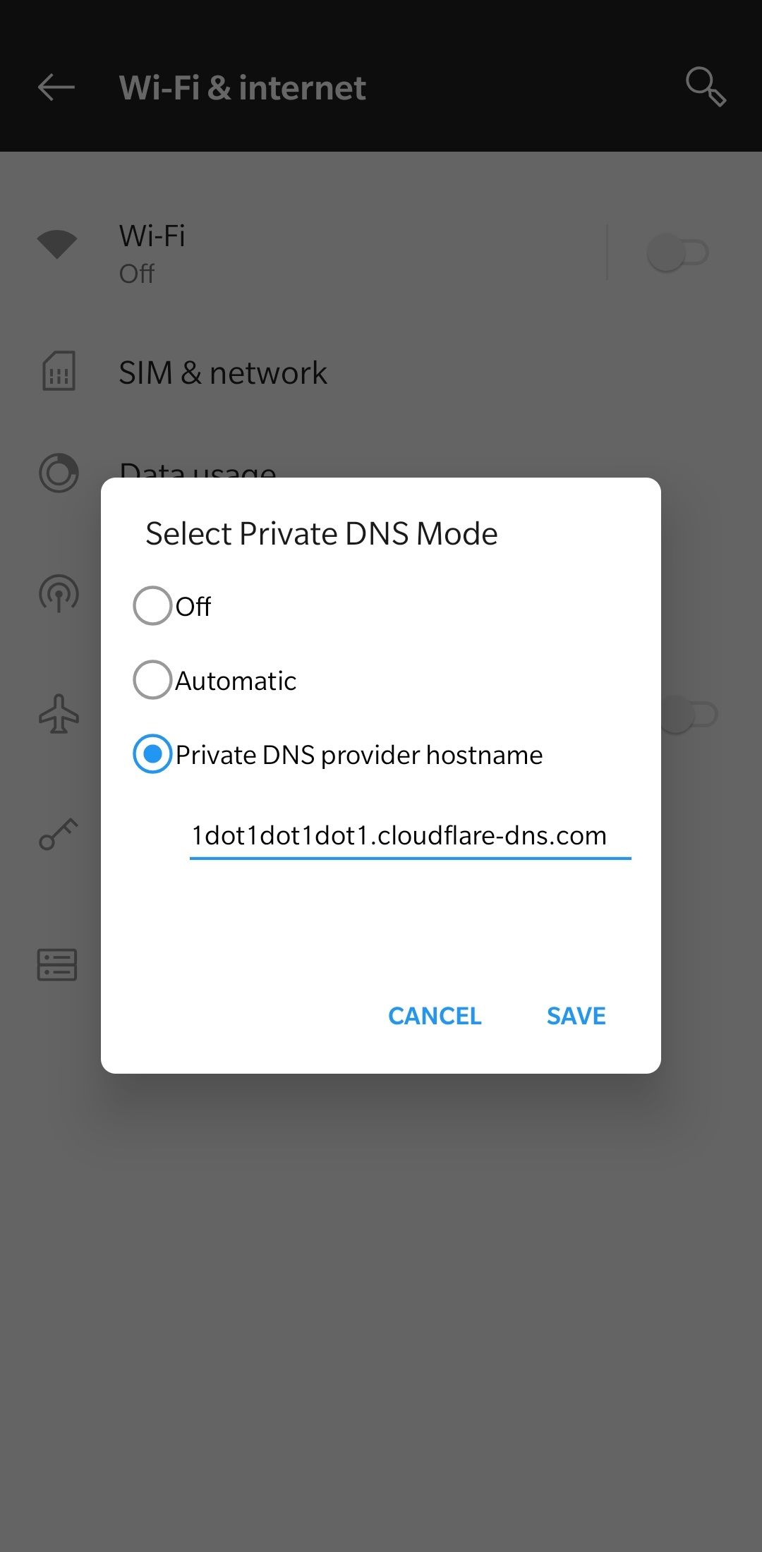 Android 9 Pie Private DNS Setting