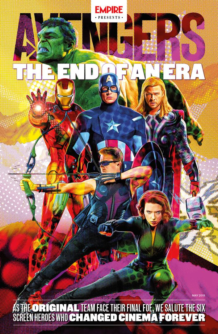 Avengers Endgame Empire Magazine Cover 3 Retro