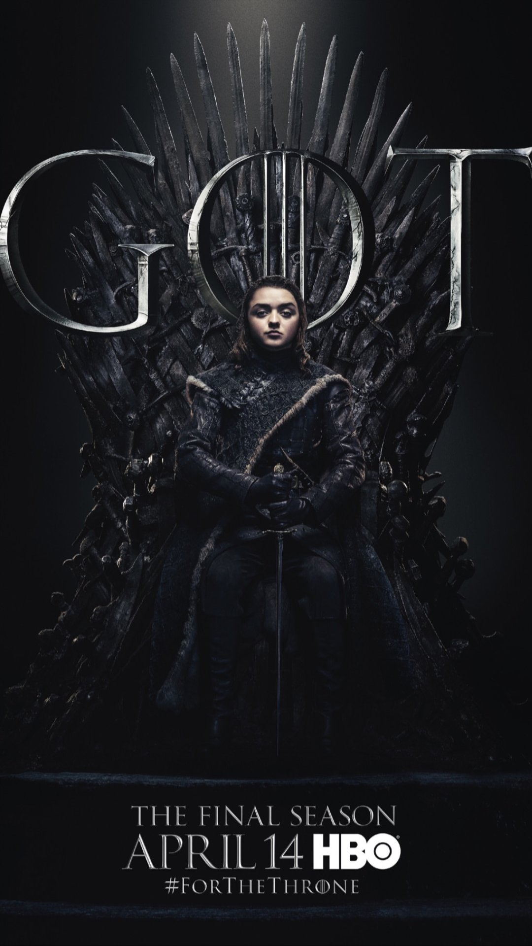 Iron Throne Poster - Arya Stark