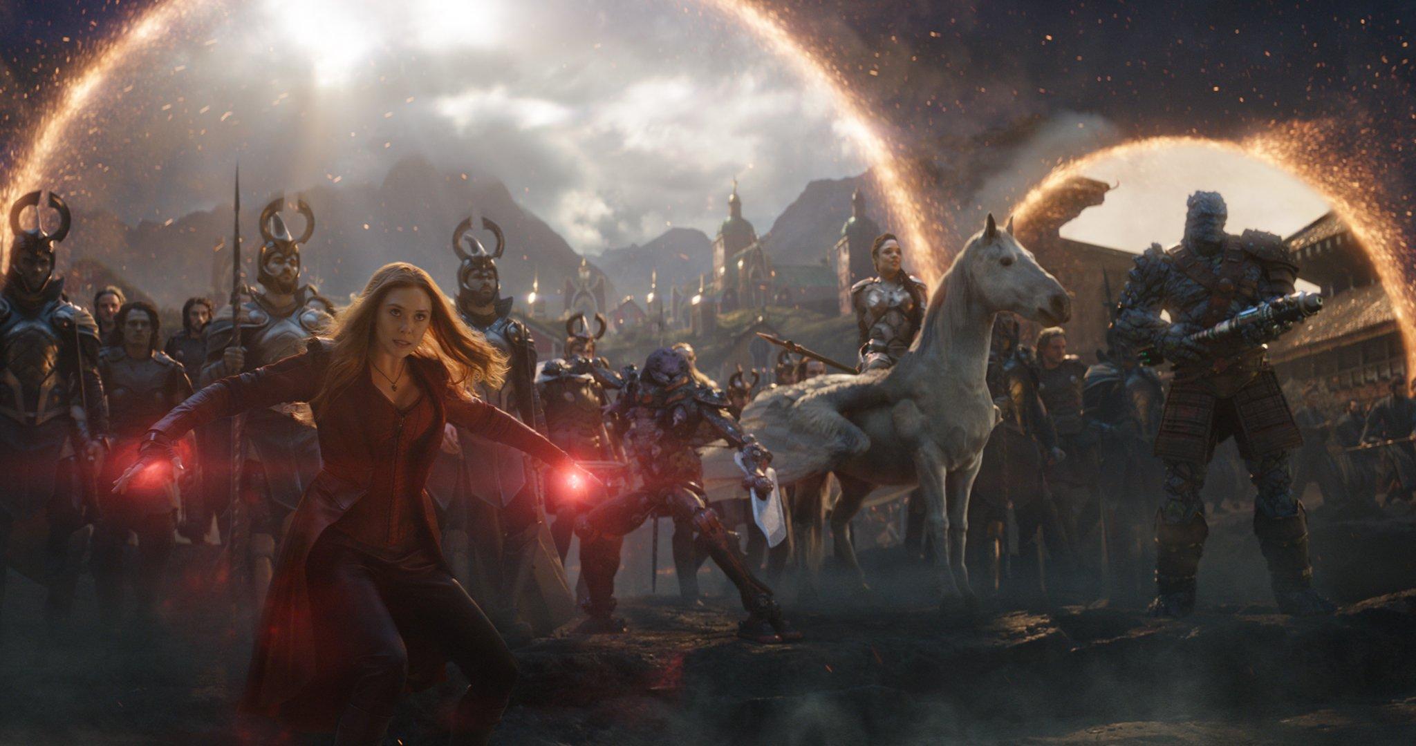 Avengers Endgame Hires Still 5 - Scarlet Witch Valkyrie Korg