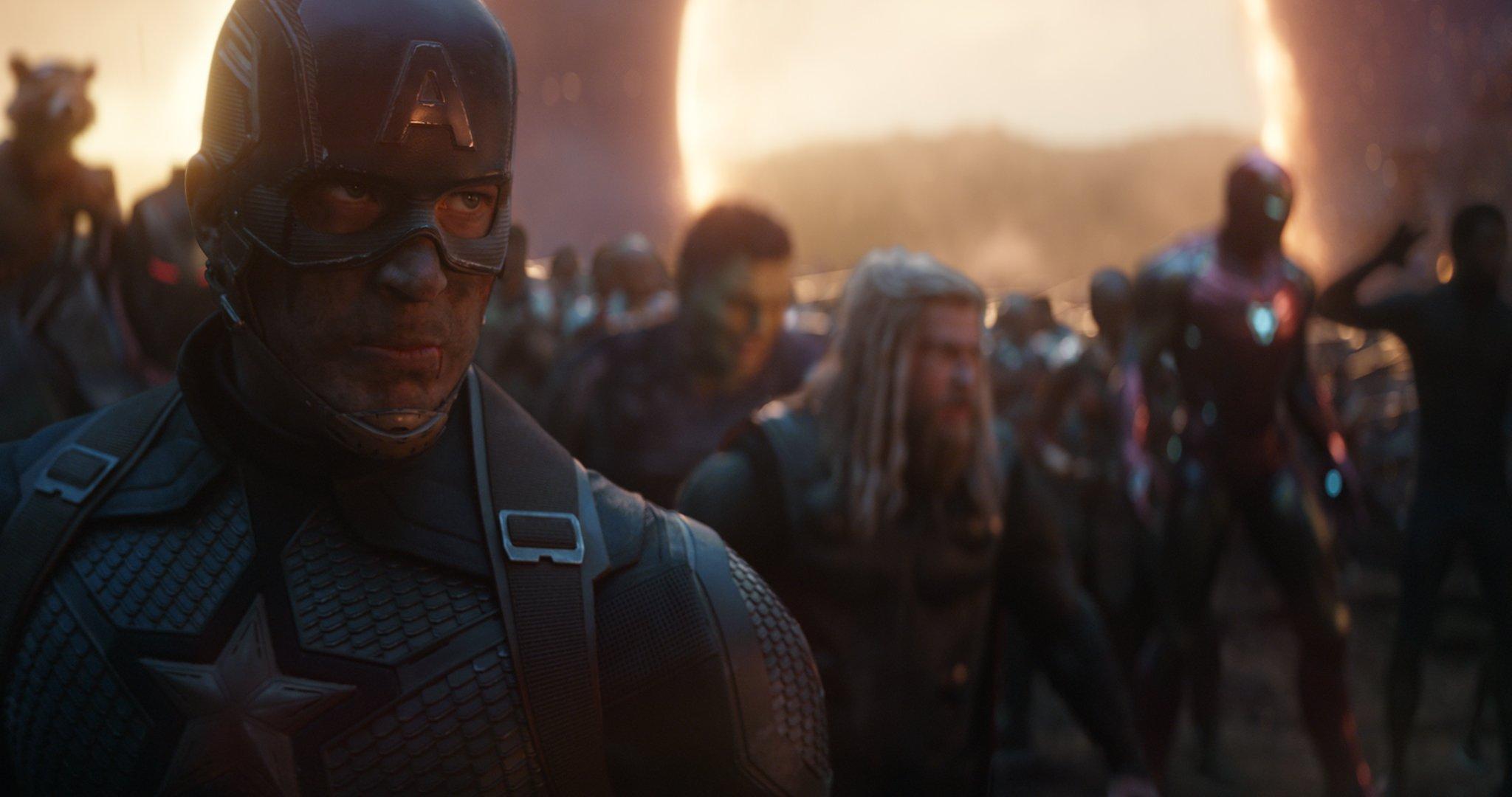 Avengers Endgame Hires Still 6 - Captain America Thor Iron Man Hulk