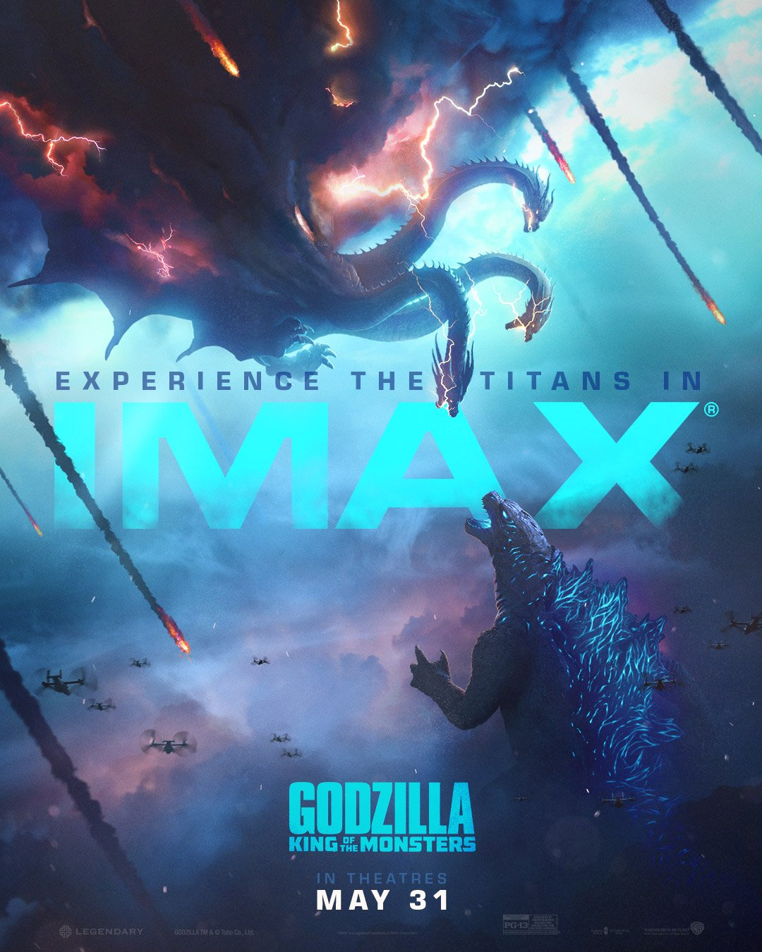 Godzilla King of the Monsters IMAX Poster Artwork