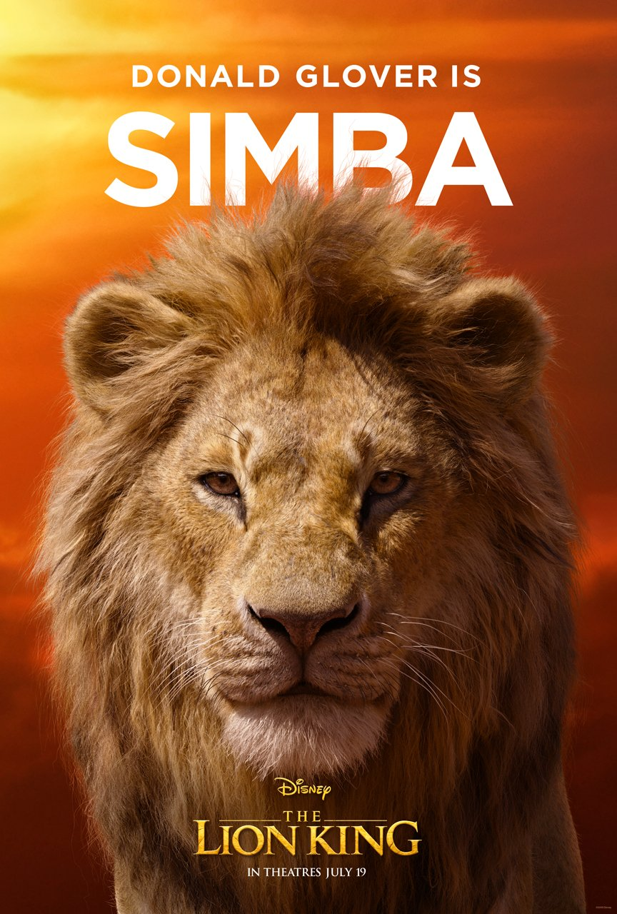 The Lion King Character Poster 01 - Donald Glover Is Simba