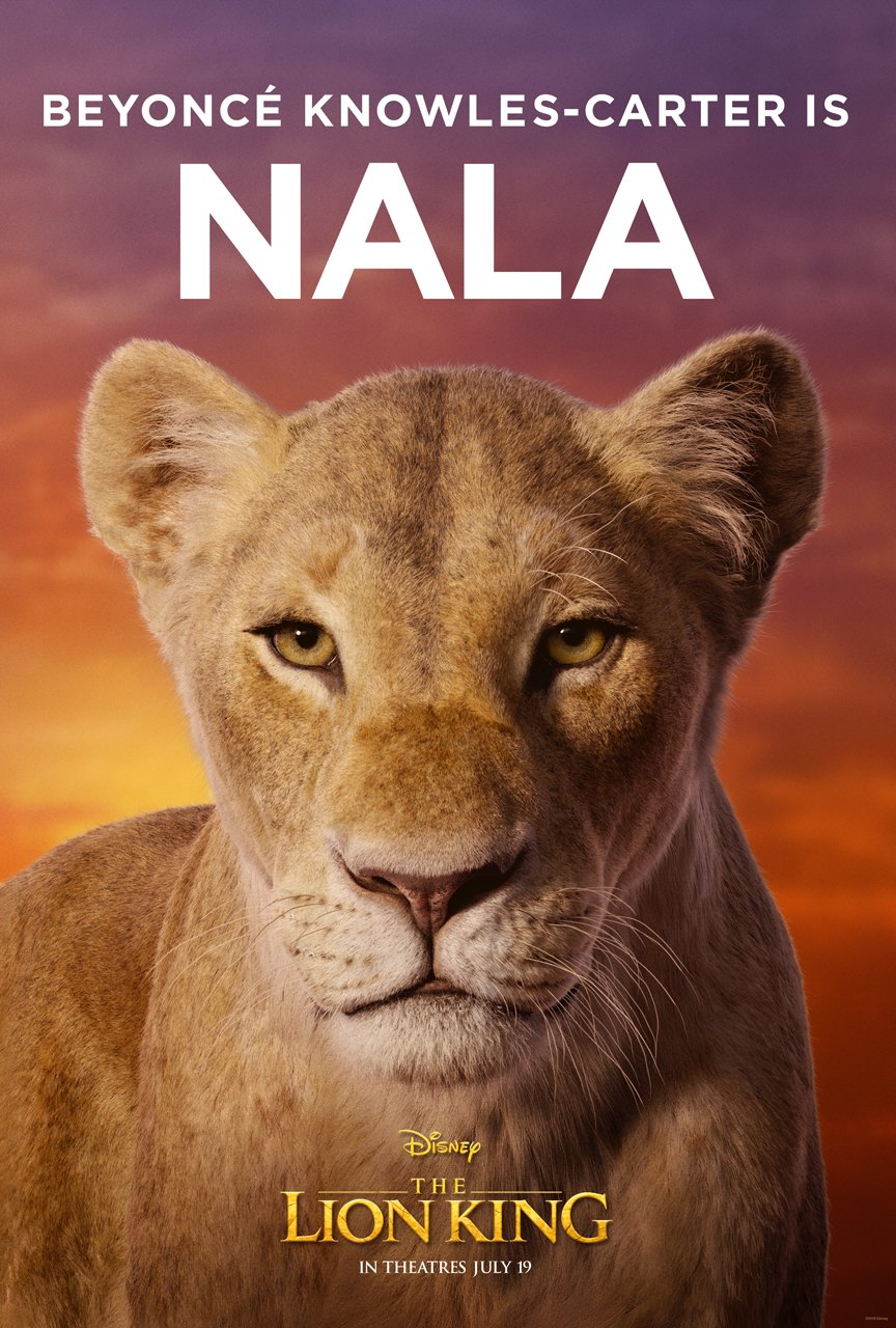 The Lion King Character Poster 02 - Beyonce Knowles Carter Is Nala