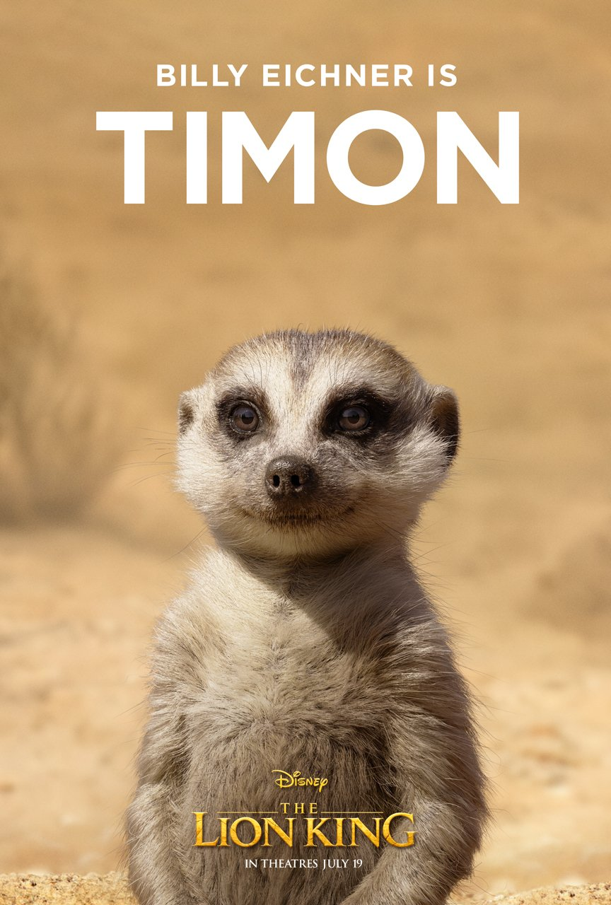 The Lion King Character Poster 04 - Billy Eichner Is Timon