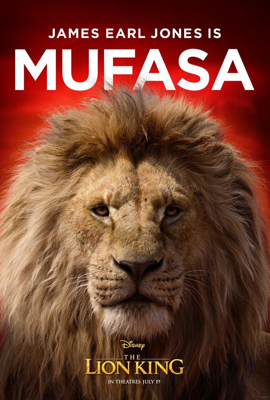 The Lion King Character Poster 05 - James Earl Jones Is Mufasa