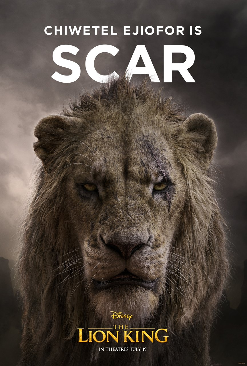 The Lion King Character Poster 06 - Chiwetel Ejiofor Is Scar