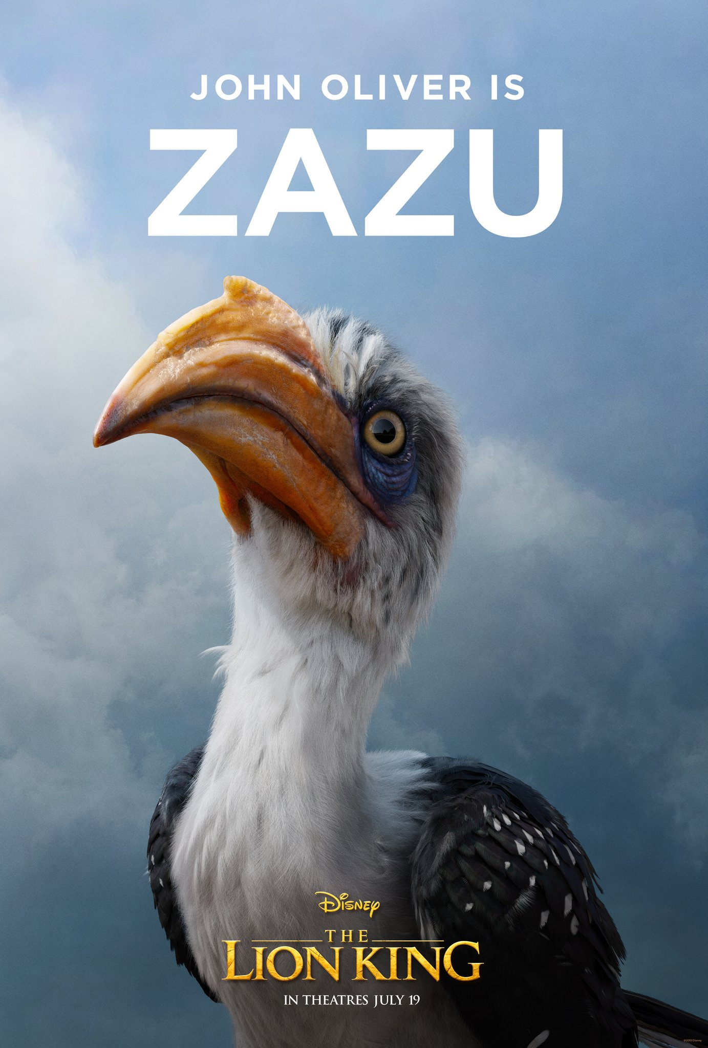 The Lion King Character Poster 08 - John Oliver Is Zazu