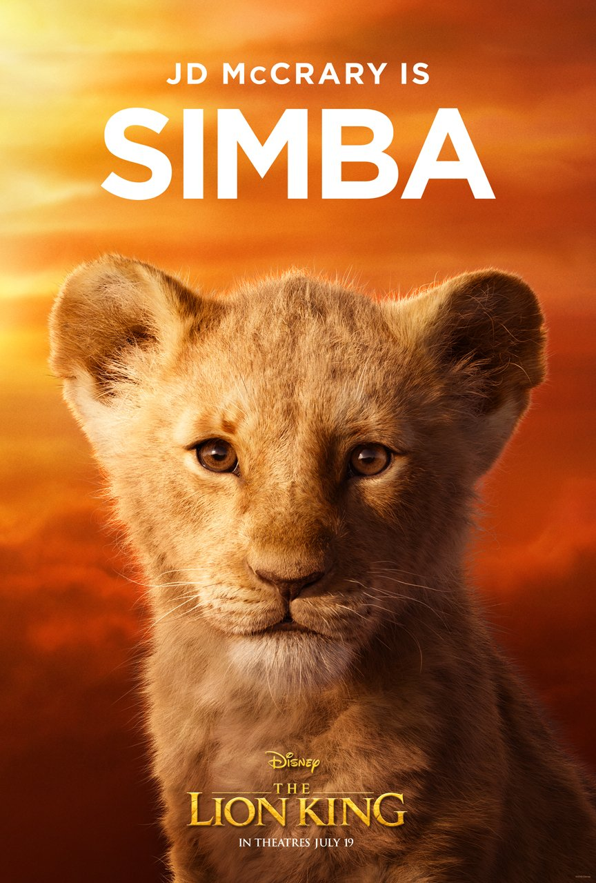 The Lion King Character Poster 10 - JD McRary Is Simba