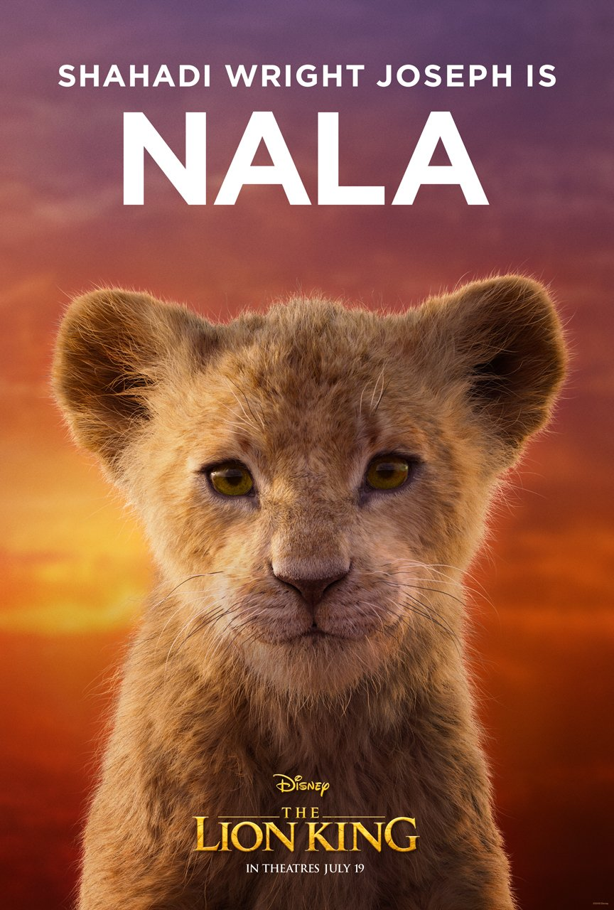 The Lion King Character Poster 11 - Shahadi Wright Joseph Is Nala