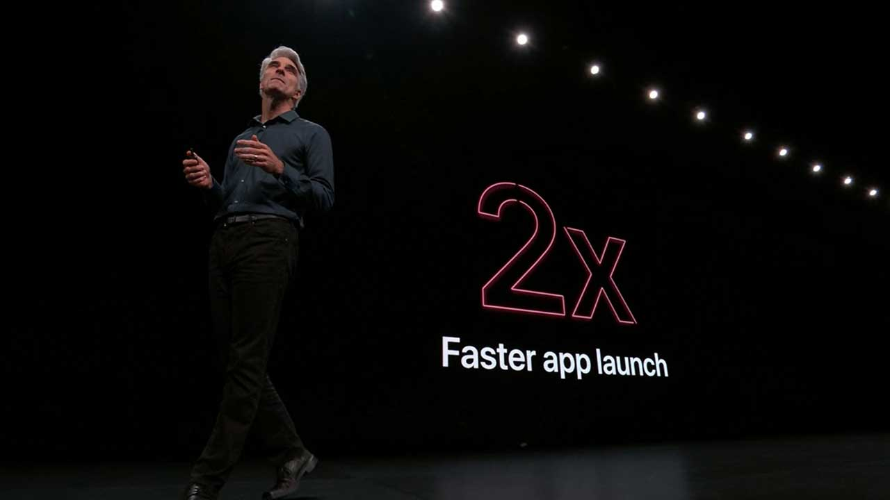 Apple WWDC 2019 Live Stream iOS 13 2x Faster