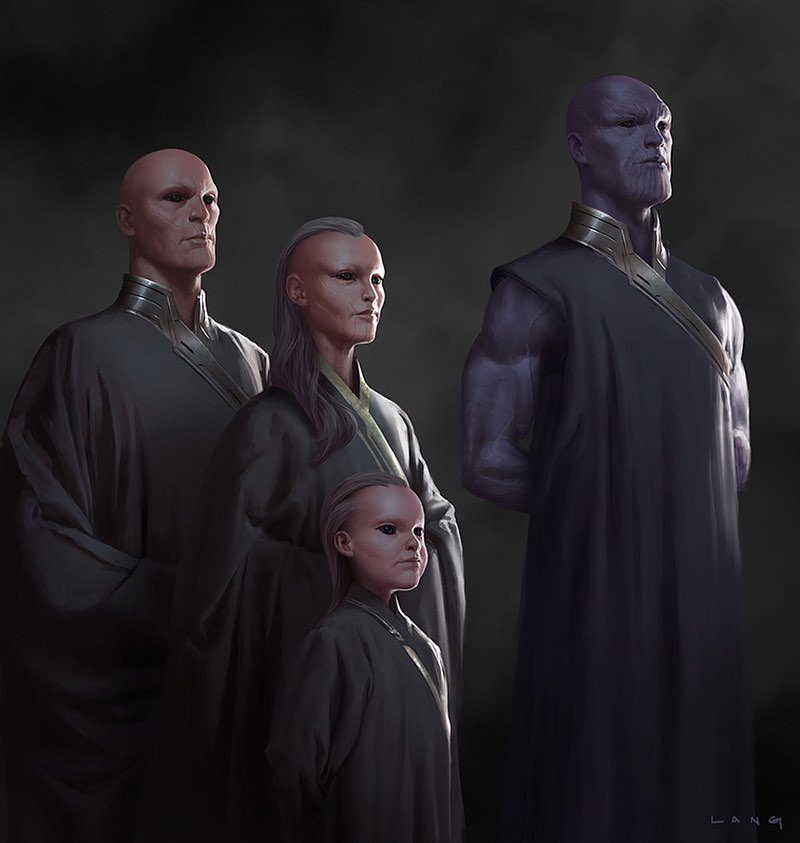 Avengers Infinity War Endgame Unused Concept Art Young Thanos Eternals (HQ)
