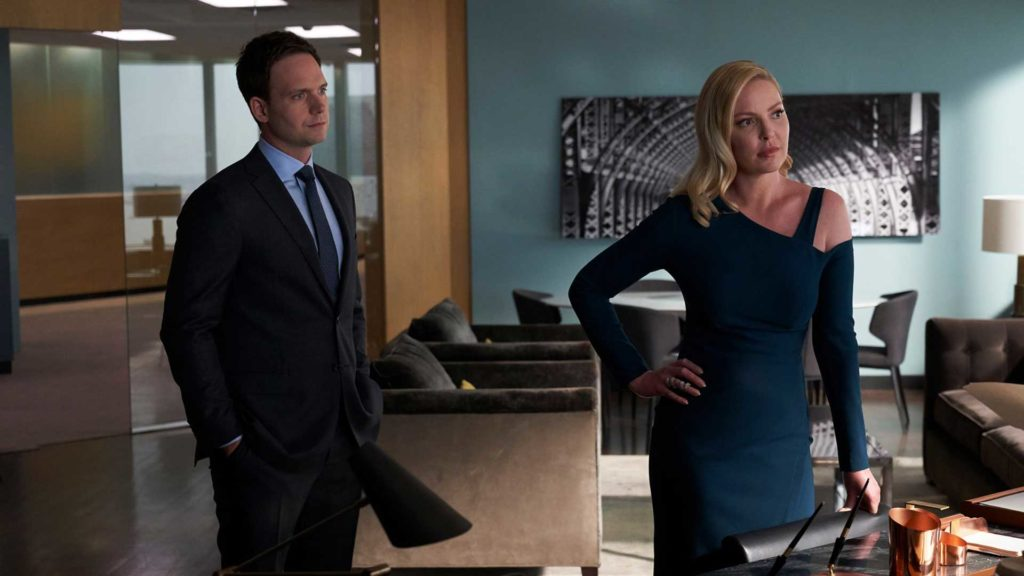 Suits S09E09 Mike Ross Patrick J Adams Samantha Wheeler Katherine Heigl