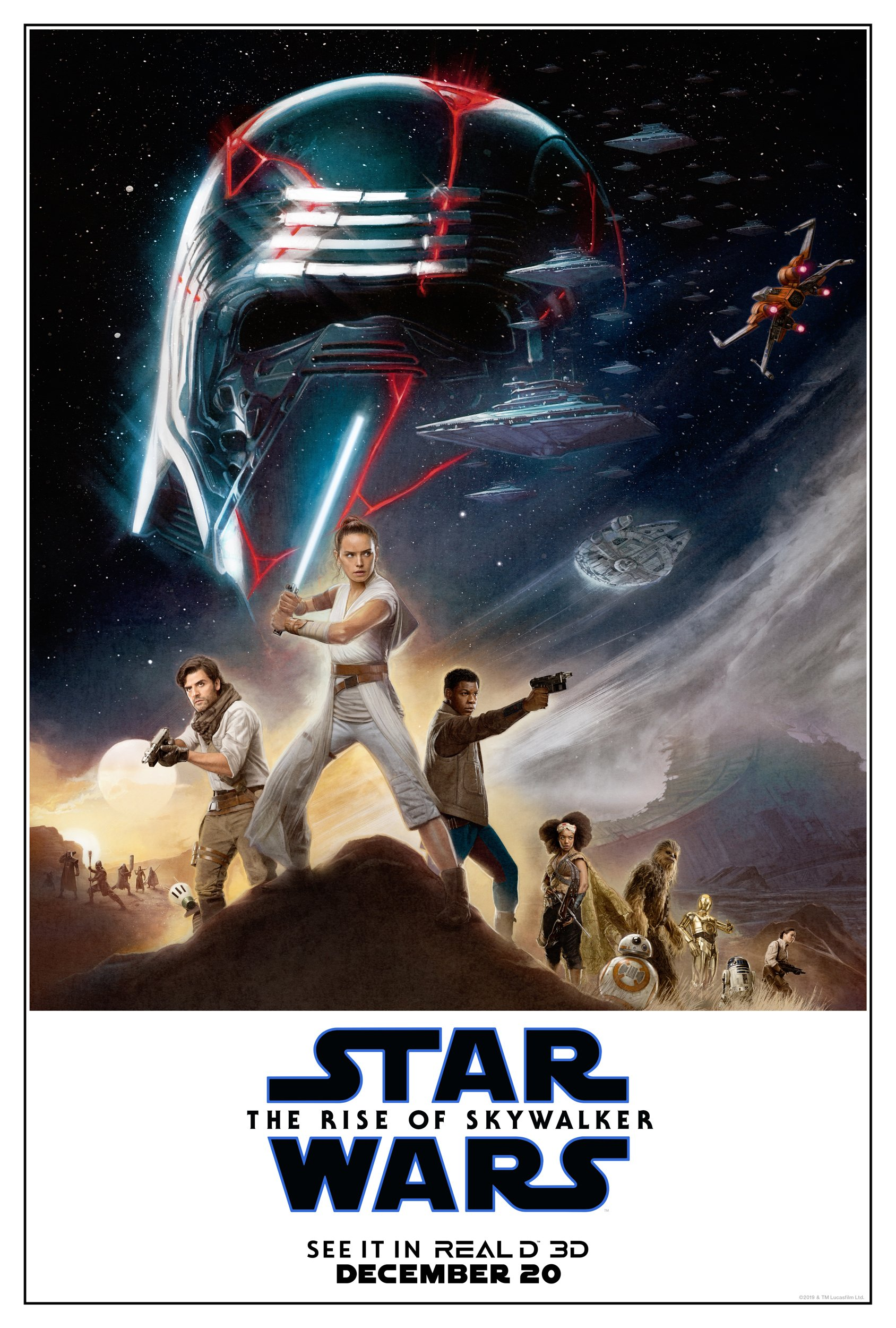 Star Wars Episode IX The Rise Of Skywalker RealD 3D Poster