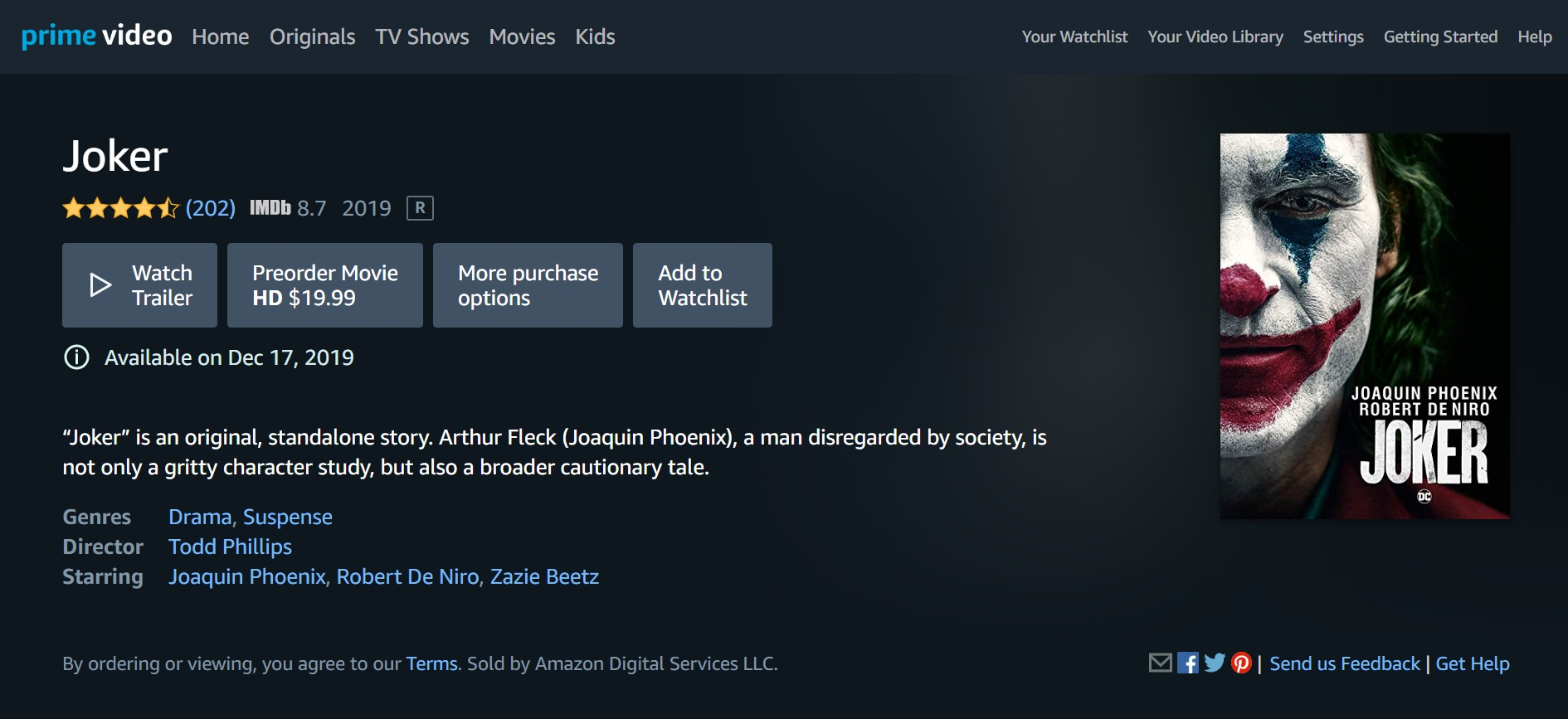 Joker Digital HD Listing