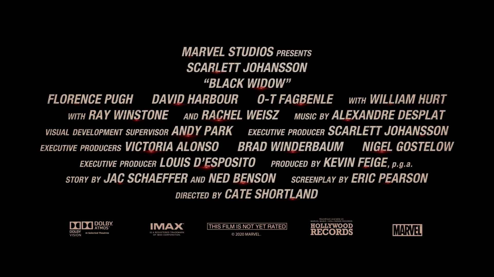 Black Widow Special Look Trailer Credits