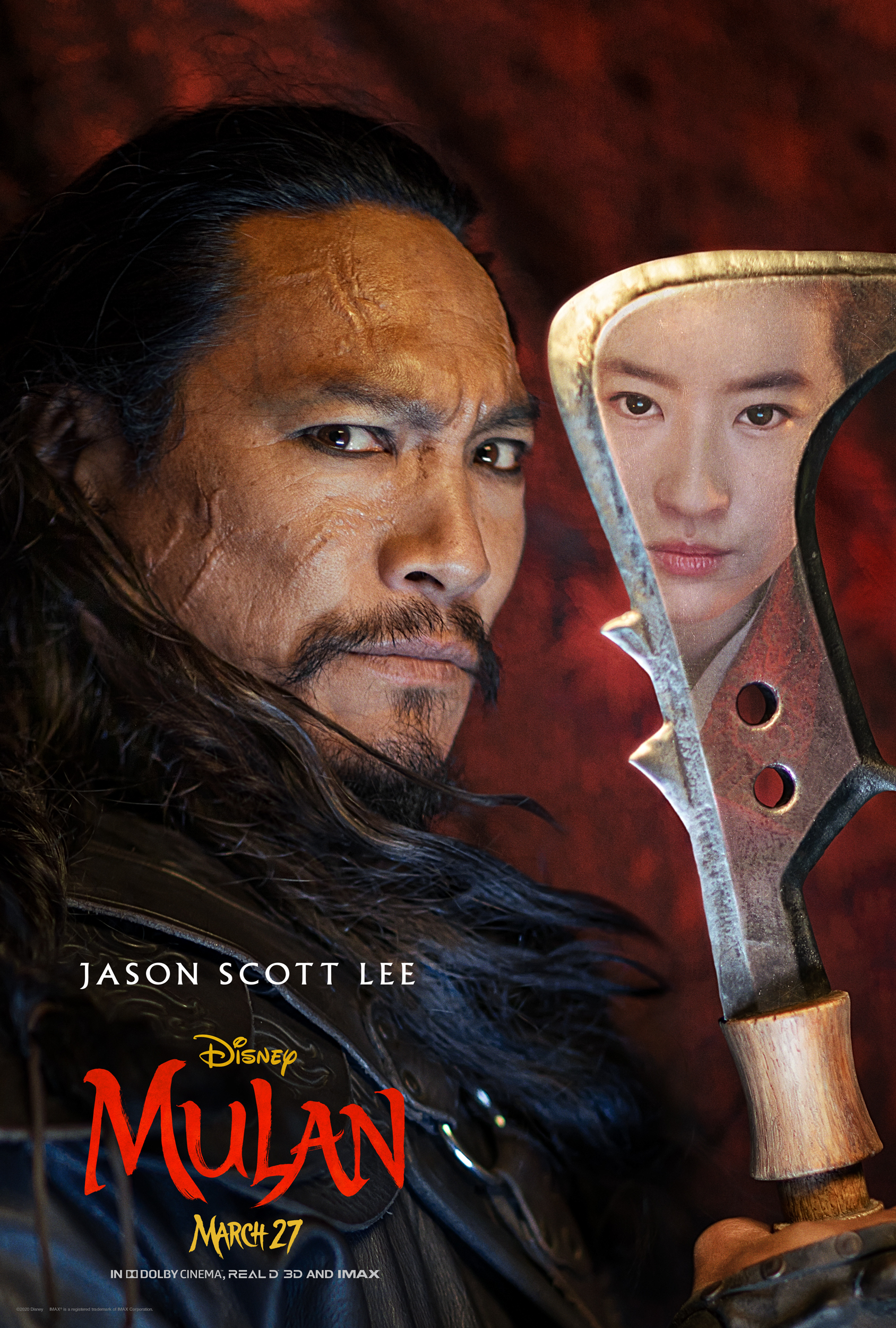 Mulan Character Poster Jason Scott Lee