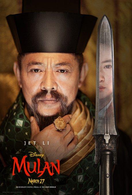 Mulan Character Poster Jet Li