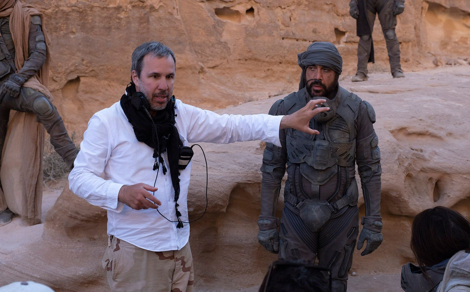 Dune Still 10 Denis Villeneuve with Javier Bardem as Fremen