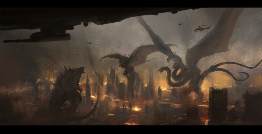 Godzilla King Of The Monsters Concept Art 19 - Monsters Battle