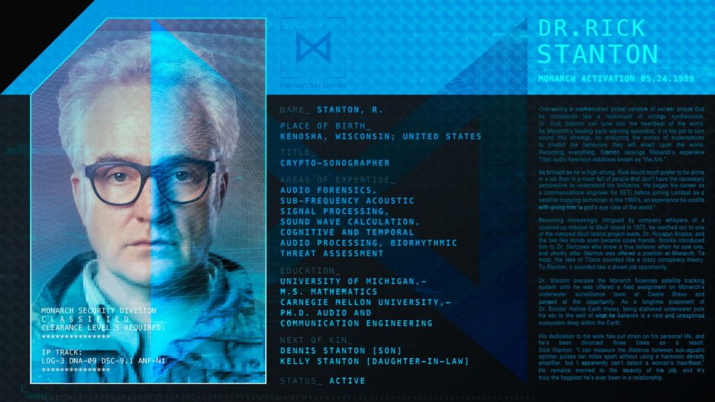 Godzilla King Of The Monsters Monarch Personnel Profile - Dr Rick Stanton