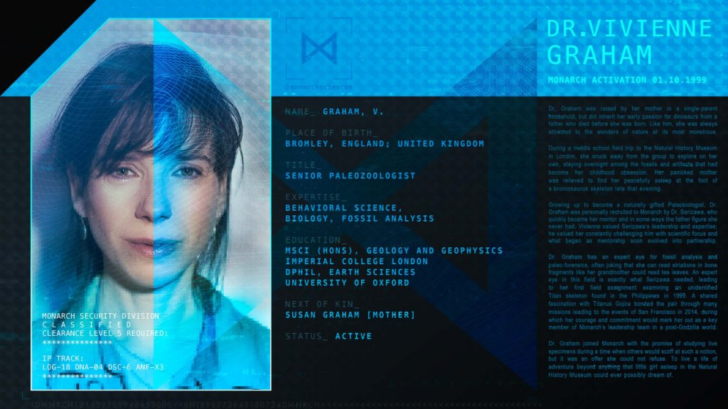 Godzilla King Of The Monsters Monarch Personnel Profile - Vivienne Graham