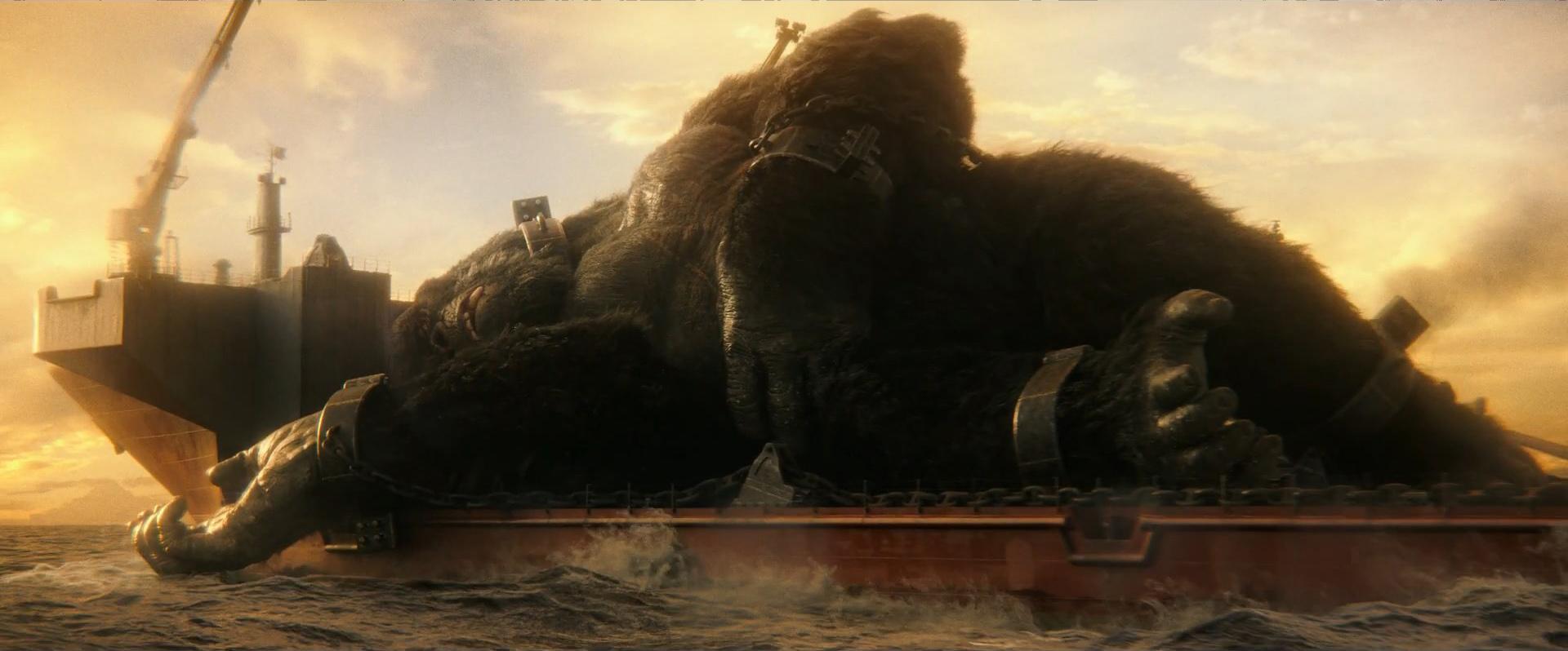 Godzilla vs Kong Trailer Still 07 - Kong chained