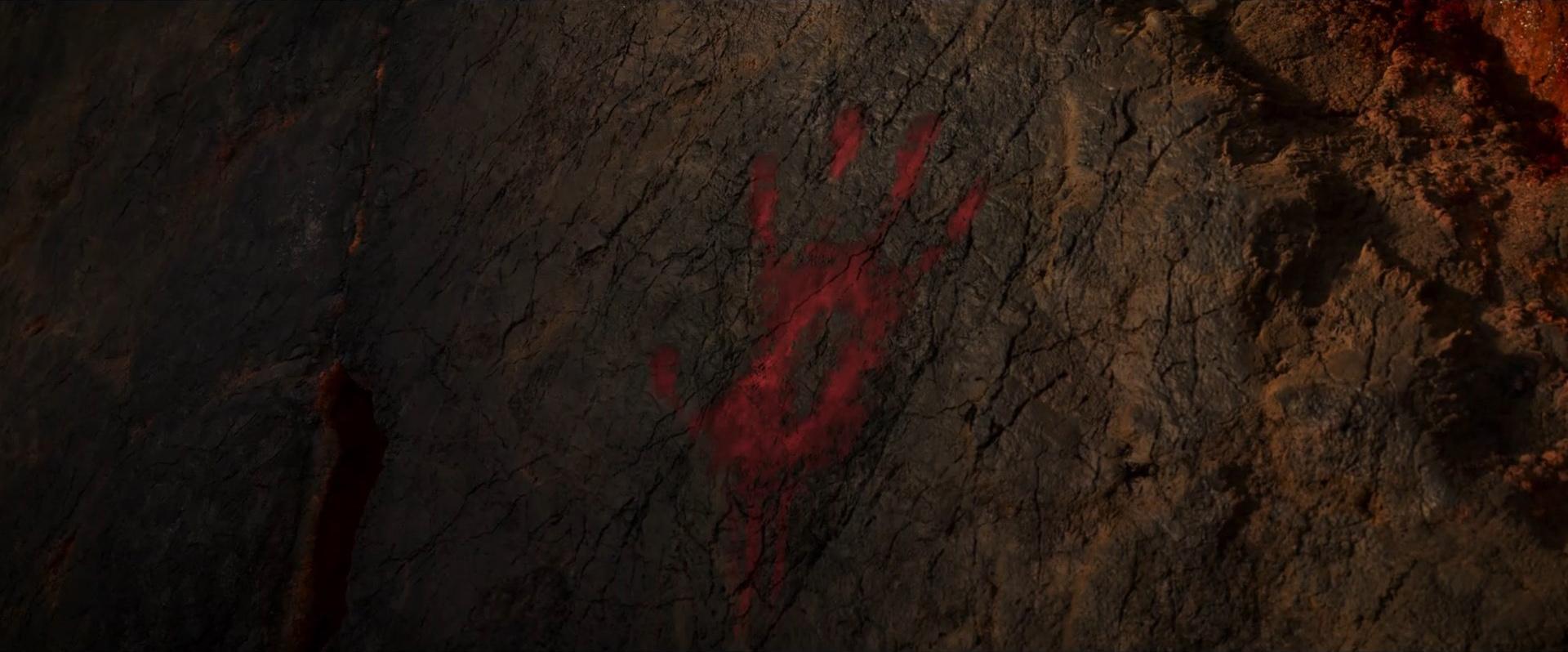 Godzilla vs Kong Trailer Still 61 - Kong hand print Skull Island