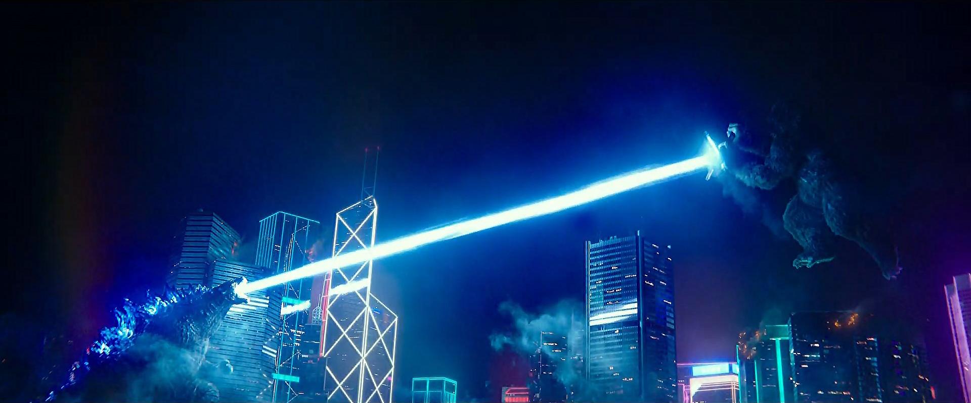 Godzilla vs Kong Trailer Still 77 - Kong blocks Godzilla's Atomic Breath