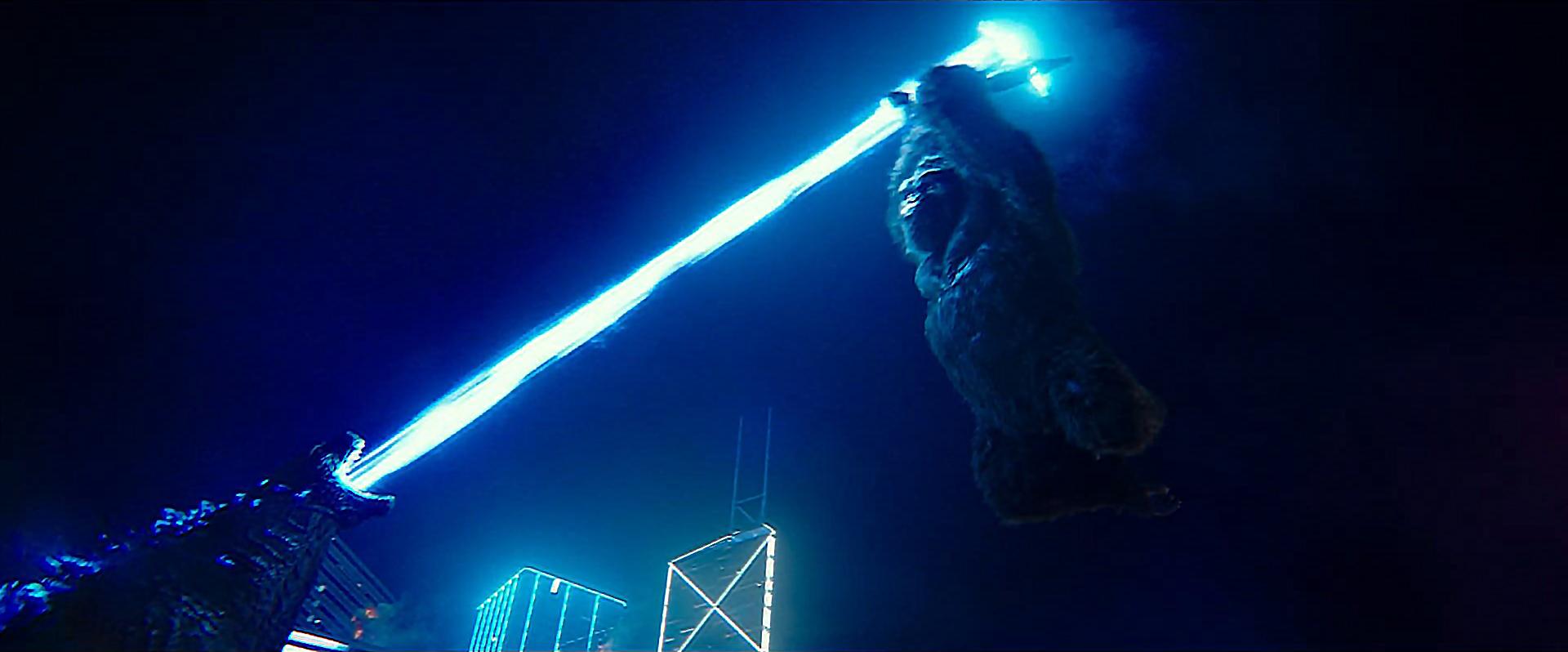 Godzilla vs Kong Trailer Still 79 - Kong blocks Godzilla's Atomic Breath