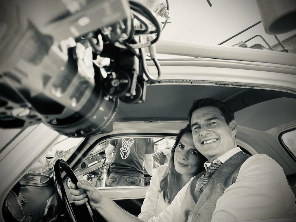Tom Cruise Hayley Atwell Car Stunt Prep